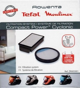 Set filtre HEPA originale Rowenta Compact Power Cyclonic ZR005901
